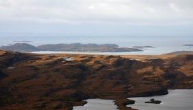 Coastal landscape near Stac Pollaidh Stock Photography