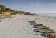 Coastal landscape near a village of fishermen, Kurzeme, Latvia Stock Photography