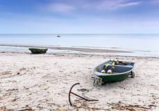 Coastal landscape near village of fishermen Royalty Free Stock Images