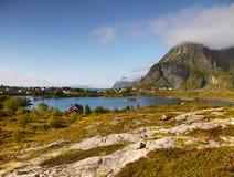 Coastal landscape, Norway Royalty Free Stock Images