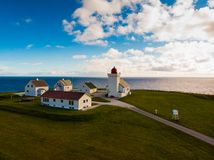 Obrestad lighthouse in Norway royalty free stock photo