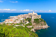 Coastal landscape with old town of Gaeta. Italy Royalty Free Stock Photography