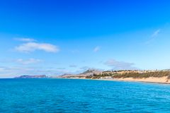 Coastal landscape of Porto Santo island Stock Photo