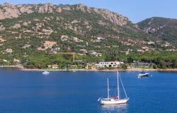 Coastal landscape of Porto-Vecchio bay, Corsica Stock Images
