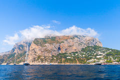 Coastal landscape with rocks of Capri island Stock Image