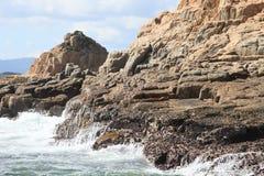 Coastal landscape of Sai Kung geological park Stock Photo