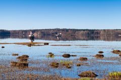 Coastal landscape of the Saimaa Canal Royalty Free Stock Images