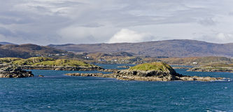Coastal landscape on scottish isle Stock Image