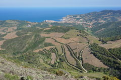 Coastal landscape south France Pyrenees Orientales Royalty Free Stock Photography