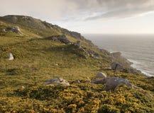 Coastal landscape at sunset Stock Photo