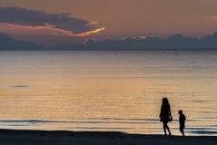Coastal landscape after sunset, Baltic Sea Royalty Free Stock Photos