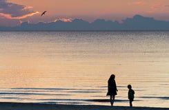 Coastal landscape after sunset, Baltic Sea Royalty Free Stock Photo