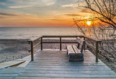 Coastal landscape at sunset, Jurmala, Latvia Stock Photos