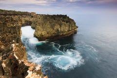 Coastal landscape at Water Blow, Bali Stock Image