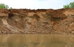 Coastal landslides Stock Image