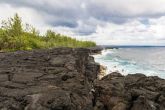 Coastal lava field in la Reunion island Stock Images