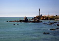 Coastal Light House. This was a telephoto shot of a light house south of Big Sur royalty free stock images