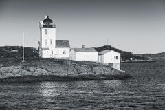 Coastal lighthouse located in Smola, Norway Stock Photo