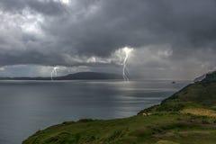 Coastal Lightning royalty free stock images