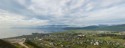 Coastal line of lake Baikal. Summer landscape Stock Photo
