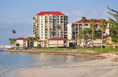 Coastal Living (1), St Petersburg Florida. Florida has many communities along the water. Many have their own beaches Royalty Free Stock Photos