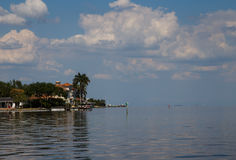 Coastal living. The view of the houses at St Pete Stock Image
