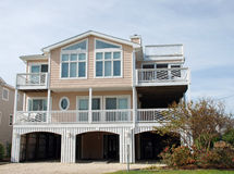 Coastal Luxury Home 70. A coastal home on risers to prevent flooding Royalty Free Stock Photos
