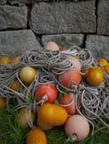 coastal Maine Trawl net floats stock images