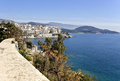 Coastal mediterranean Greek resort Royalty Free Stock Photos