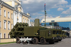 Coastal missile complex Royalty Free Stock Image