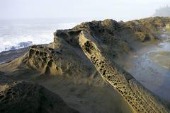 Coastal Moon Rocks Royalty Free Stock Photography