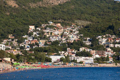 Coastal mountain landscape in Sutomore, Montenegro Royalty Free Stock Photos
