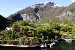 Coastal and Mountain Scene @Flam royalty free stock image