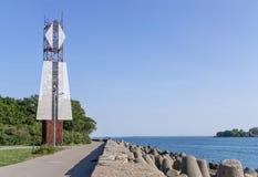Coastal navigational seamark royalty free stock images