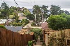 Coastal Neighborhood in Northern California Royalty Free Stock Photo