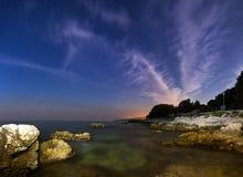 Coastal night Royalty Free Stock Photo