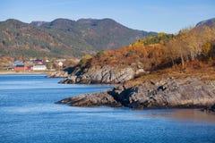 Coastal Norwegian landscape. Hasselvika village Stock Images