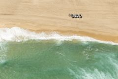 Coastal ocean beach from above Royalty Free Stock Images