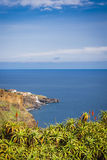 Coastal and ocean view near Funchal town, Madeira island, Portugal Stock Photography