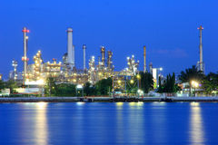 Coastal oil refineries. Royalty Free Stock Image