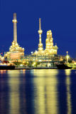 Coastal oil refineries. Royalty Free Stock Photos
