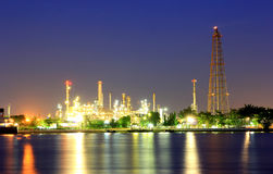 Coastal oil refineries. Royalty Free Stock Photos