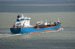 Coastal oil tanker Bro Distributor Stock Photos