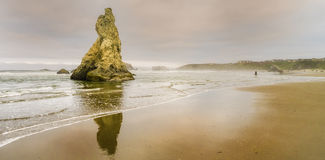 Coastal Oregon, Bandon Beach Sea Stacks Stock Photos