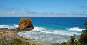 Coastal panorama. Panorama of coastal scene from Great Ocean Road, Australia Stock Photos