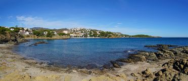 Coastal panorama in Mediterranean Costa Brava Royalty Free Stock Photo