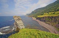 Coastal Panorama on a Remote Coast Stock Image