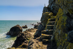 Coastal Path. The Gobbins Path, Islandmagee, County Antrim, Northern Ireland stock photos