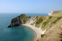 Coastal path above Durdle Door Stock Images