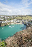 Coastal path around port Isaac near port quin cornwall england UK Royalty Free Stock Photos